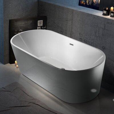 Aqua Eden Marianne Acrylic 59.06 x 29.5 Freestanding Soaking Bathtub