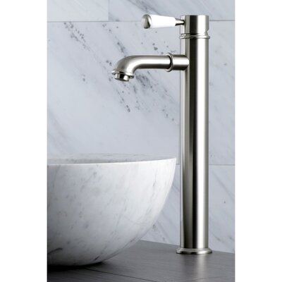 Paris Single Hole Lever Handle Bathroom Faucet Finish: Satin Nickel