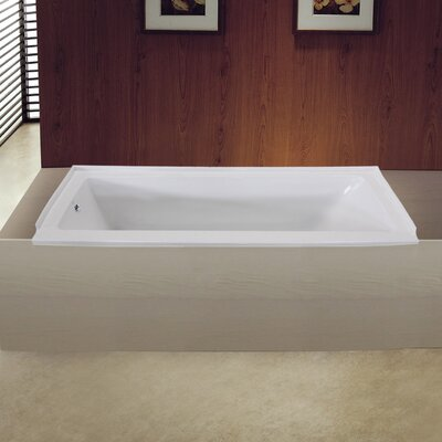 Aqua Eden 60 x 30 Drop in Soaking Bathtub Drain Location: Left