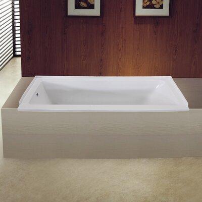 Aqua Eden 60 x 32 Drop in Soaking Bathtub Drain Location: Left