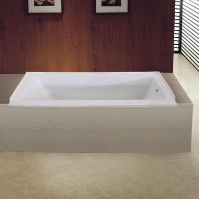 Aqua Eden 60 x 32 Drop in Soaking Bathtub Drain Location: Right