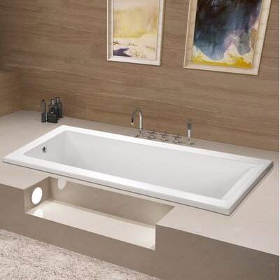 Aqua Eden 67 x 28 Drop in Soaking Bathtub Drain Location: Left