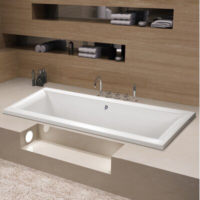 Aqua Eden 67 x 28 Drop in Soaking Bathtub Drain Location: Center