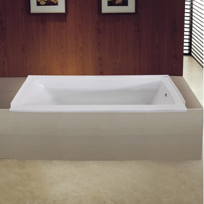 Aqua Eden 60 x 30 Drop in Soaking Bathtub Drain Location: Right
