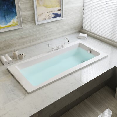 Aqua Eden 59 x 30 Drop in Soaking Bathtub Drain Location: Right