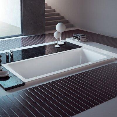 Aqua Eden 59 x 30 Drop in Soaking Bathtub Drain Location: Center