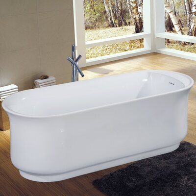 Aqua Eden Contemporary 66 x 27 Freestanding Soaking Bathtub