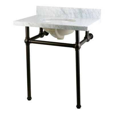 Templeton Ceramic 30 Console Bathroom Sink with Overflow Base Finish: Oil Rubbed Bronze
