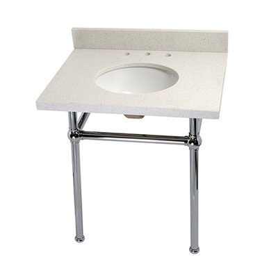 Templeton Ceramic 30 Console Bathroom Sink with Overflow Finish: Chrome
