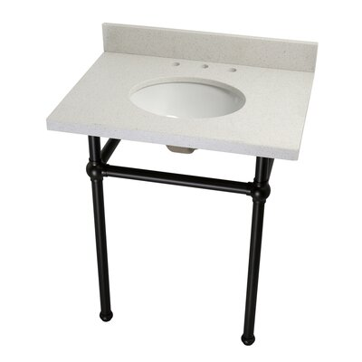 Templeton Ceramic 30 Console Bathroom Sink with Overflow Finish: Oil Rubbed Bronze