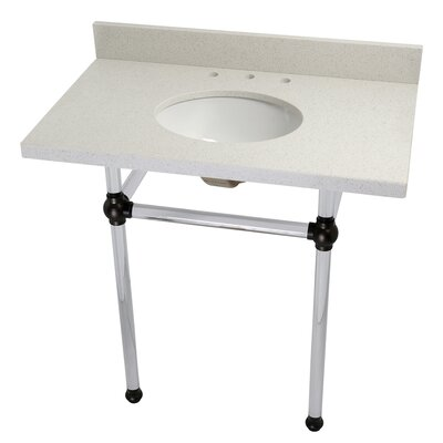 Templeton Ceramic 36 Console Bathroom Sink with Overflow Finish: Oil Rubbed Bronze