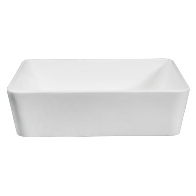 Fauceture Rectangular Vessel Bathroom Sink
