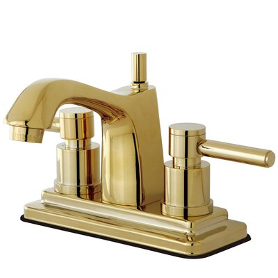 Concord Double Handle Centerset Bathroom Faucet with Pop-Up Drain Finish: Brass