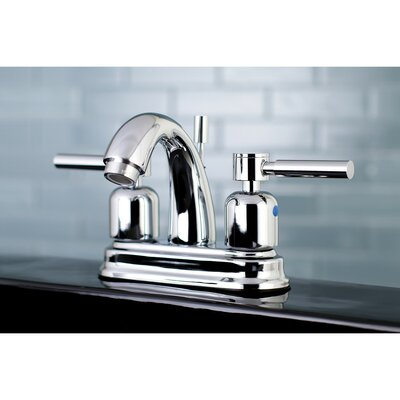 Concord Centerset Double Handle Bathroom Faucet with Drain Assembly Finish: Polished Chrome, Size: 5 H x 6 W x 3.63 D