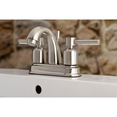 Concord Centerset Double Handle Bathroom Faucet with Drain Assembly Finish: Satin Nickel, Size: 5 H x 6 W x 3.75 D