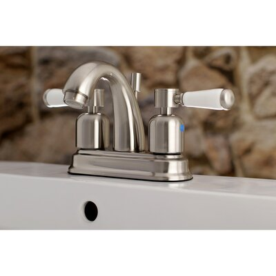 Paris Centerset Double Handle Bathroom Faucet with Drain Assembly Finish: Satin Nickel, Size: 5 H x 6 W x 3.75 D
