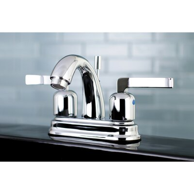 Centurion Centerset Double Handle Faucet with Drain Assembly Finish: Polished Chrome, Size: 5 H x 6 W x 3.75 D