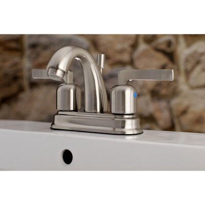 Centurion Centerset Double Handle Faucet with Drain Assembly Finish: Satin Nickel, Size: 5 H x 6 W x 3.63 D