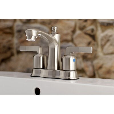 Centurion Centerset Double Handle Bathroom Faucet with Drain Assembly Finish: Satin Nickel