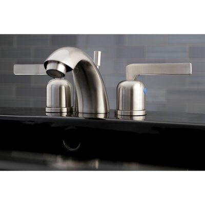Centurion Mini-Widespread Double Handle Bathroom Faucet with Drain Assembly Finish: Satin Nickel