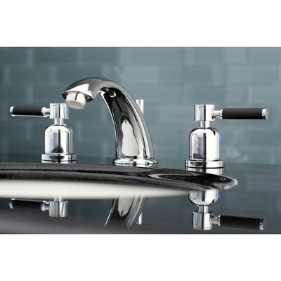 Kaiser Widespread Double Handle Bathroom Faucet with Drain Assembly Finish: Polished Chrome