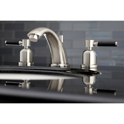 Kaiser Widespread Double Handle Bathroom Faucet with Drain Assembly Finish: Satin Nickel