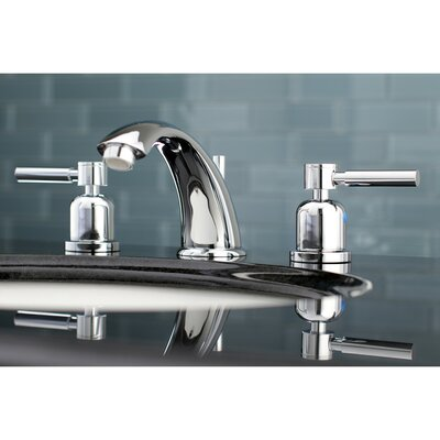 Concord Widespread Double Handle Bathroom Faucet with Drain Assembly Finish: Polished Chrome