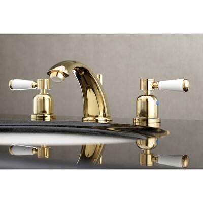 Paris Widespread Double Handle Bathroom Faucet with Drain Assembly Finish: Polished Brass