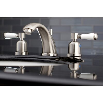 Paris Widespread Double Handle Bathroom Faucet with Drain Assembly Finish: Satin Nickel