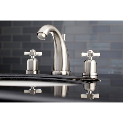 Millennium Widespread Double Handle Bathroom Faucet with Drain Assembly Finish: Satin Nickel