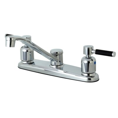 Kaiser Centerset Double Handle Kitchen Faucet Side Spray: No Side Sprayer