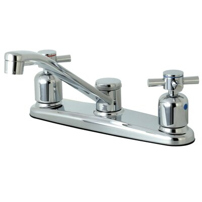 Concord Centerset Double Handle Kitchen Faucet Side Spray: No Side Sprayer