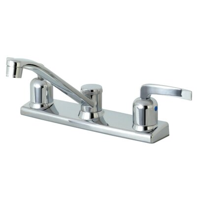 Centurion Centerset Double Handle Kitchen Faucet Side Spray: No Side Sprayer