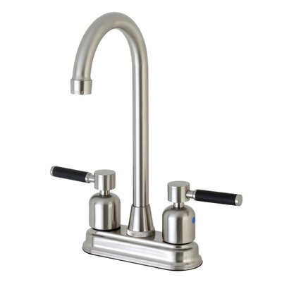 Kaiser Centerset High-Arch Spout Bar Faucet Finish: Satin Nickel