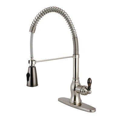 Kaiser Single Handle Kitchen Faucet Finish: Satin Nickel