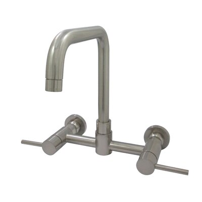 Concord Centerset Double Handle Kitchen Faucet Finish: Satin Nickel