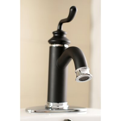 Royale Single Handle Bathroom Faucet with Drain Assembly Finish: Matte Black/Chrome