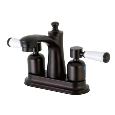 Paris Centerset Double Handle Bathroom Faucet with Drain Assembly Finish: Oil Rubbed Bronze