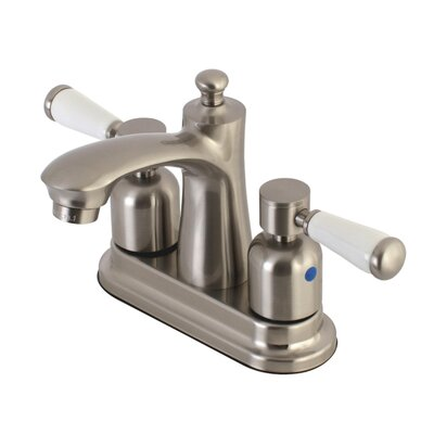Paris Centerset Double Handle Bathroom Faucet with Drain Assembly Finish: Satin Nickel