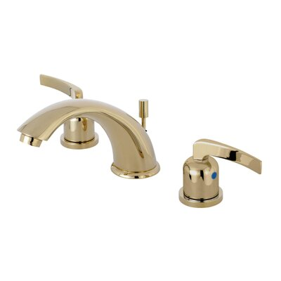 Centurion Widespread Double Handle Bathroom Faucet with Drain Assembly Finish: Polished Brass