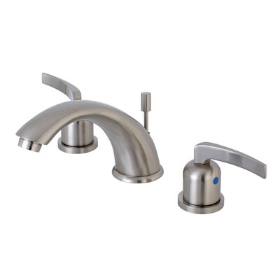Centurion Widespread Double Handle Bathroom Faucet with Drain Assembly Finish: Satin Nickel