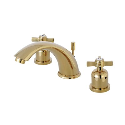Millennium Widespread Double Handle Bathroom Faucet with Drain Assembly Finish: Polished Brass