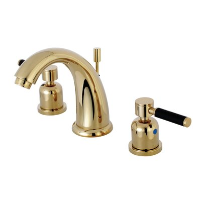 Kaiser Widespread Double Handle Bathroom Faucet with Drain Assembly Finish: Polished Brass