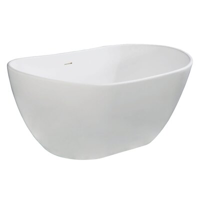 Aqua Eden Collete Freestanding Soaking Bathtub Size: 32.31 H x 56.31 W x 23.63 D