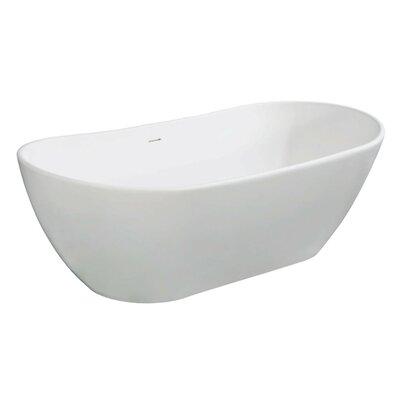 Aqua Eden Collete Freestanding Soaking Bathtub Size: 32.31 H x 71.44 W x 22.81 D
