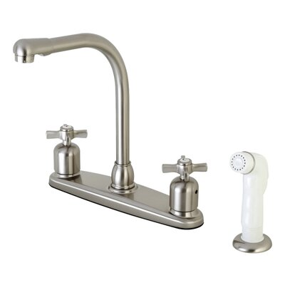 Millennium Double Handle Kitchen Faucet with Side Spray