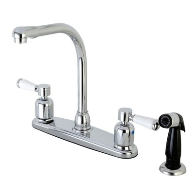 Paris Hot & Cold Water Dispenser Double Handle Kitchen Faucet with Side Spray