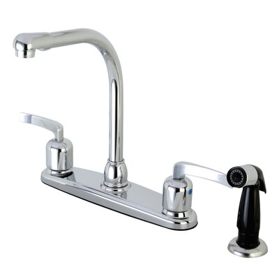 Centurion Hot & Cold Water Dispenser Double Handle Kitchen Faucet with Side Spray