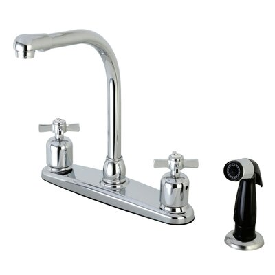 Millennium Hot & Cold Water Dispenser Double Handle Kitchen Faucet with Side Spray