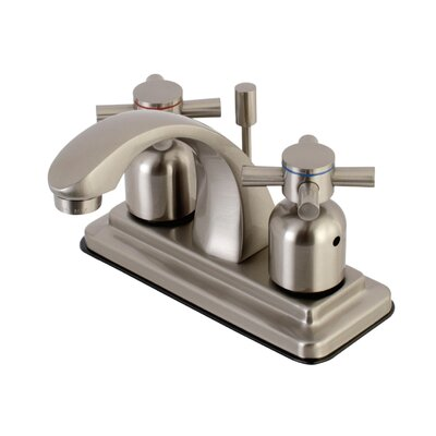 Concord Centerset Double Handle Bathroom Faucet with Drain Assembly Finish: Satin Nickel
